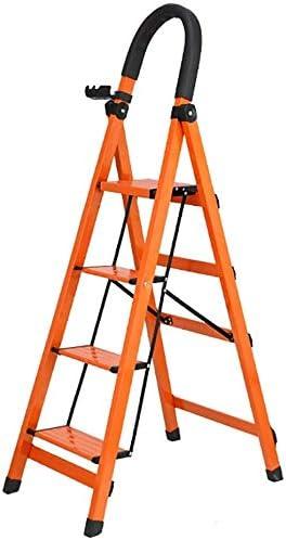 SED Escaleras de Mano Multiusos para el Hogar, Taburetes de Peldaños Interiores Escalera Plegable con Pedal Robusto Y Ancho, Escalera de Tijera Ligera de Aleación de Aluminio con 4 Peldaños, Capacida: Amazon.es: