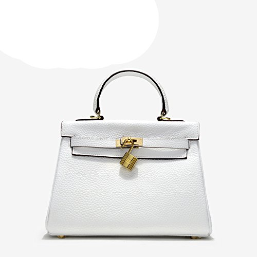 GUANGMING77 Repujado Bolsa Mujeres Bolsa Commuter Verde Lady Kylie Diagonal Cruz Layer Cabeza Hombro white Commuter rrwqBdt