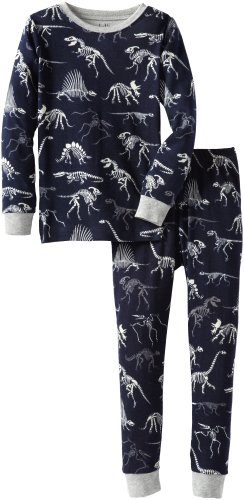 Hatley Little Boys' Pajama Set-Dino Bones