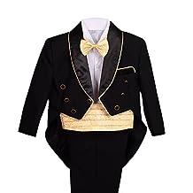 Dressy Daisy Baby Boys Jacquard Cummerbund Formal Tuxedo Suit Christening Outfit
