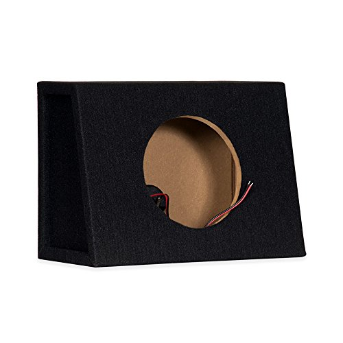 Single Car Truck Wedge Black Subwoofer Box Sealed Enclosure for 8-Inch Woofer 8F - Subwoofer Boxes For Trucks