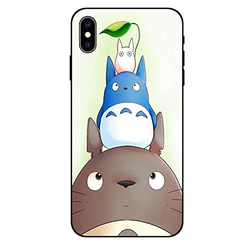GOGODOG iPhone Xs/iPhone Xs Max/iPhone XR/iPhone X Case Full Cover Ultra Thin Anti Slip Creative Simple Scratch Resistant Anti Fall Frosted Slim Soft Cover (Totoro, iPhone XR)