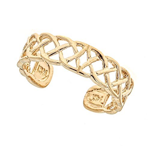 14k Solid Yellow Gold Toe Ring Body Art Adjustable ()
