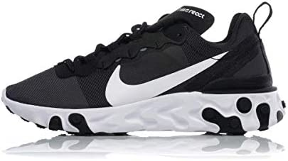 NIKE W React Element 55 Zapatillas de Running, Mujer, Negro (Black/White 003), 41 EU: Amazon.es: Deportes y aire libre