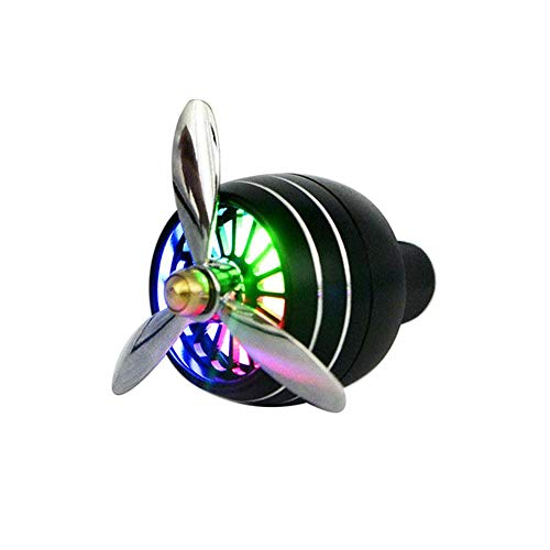 Teepao Ambientador de coche, Difusor de Aceites Esenciales, Elegante hélice de avión con colorido LED, Clip Perfecto para...
