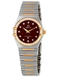 Omega Women's 1358.60.00 Constellation '95 Diamond Bezel Brown Dial Watch