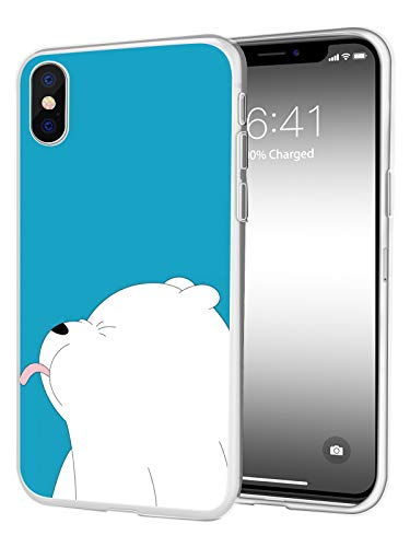JOYLAND Thin TPU Phone Case Protective Cover Lovely Polar Bears Desgin Cell Phone Case Bumper Shell Compatible for iPhone 6/6S ()