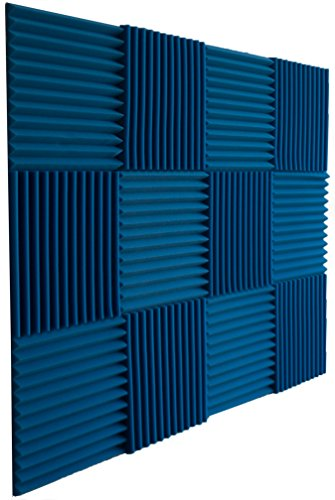 - Foamily 12 Pack- Ice Blue Acoustic Panels Studio Foam Wedges 1