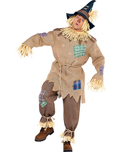AMSCAN Mr. Scarecrow Halloween Costume for Men, Standard, with Included Accessories -