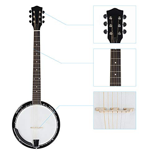 Top Grade Exquisite Professional Sapelli Notopleura Wood Alloy 6-string Banjo by Teekland (Image #2)