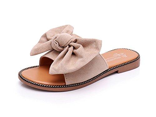 Versión de caqui Diseño de Playa Coreana con Beach Zapatillas de Sandalias The New 7qwIYxtnF