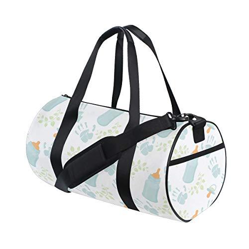 (Tote Bags Custom Kawaii Baby Water Milk Bottle Clean Travel Duffel Bags Comfortable Weekend Duffel Bags For Gym Rats Dancer Workout Bag Picnic Gift Cycling Rucksack)