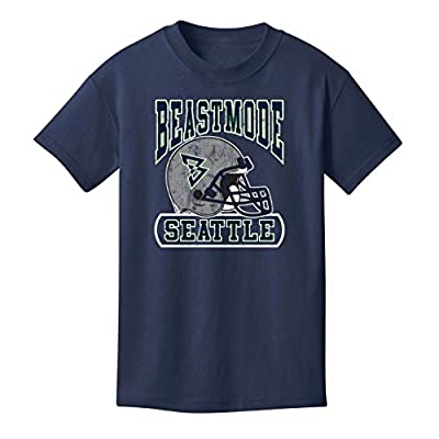 Beast Mode Men's Seattle Helmet Short Sleeve T-Shirt