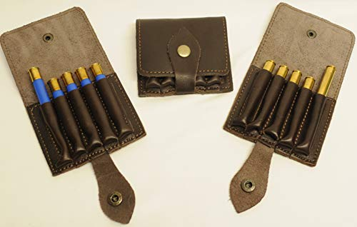 Olson Sports 410 Shotgun Shell 30-06 Rifle Cartridge Holder for Your Belt Dark Brown Leather