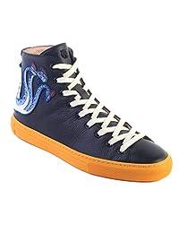 6fd8ec79e89e Gucci Zapatilla de Deporte de Cuero para Hombres Men s Leather High Top  Embroidered Dragon Sneaker Black
