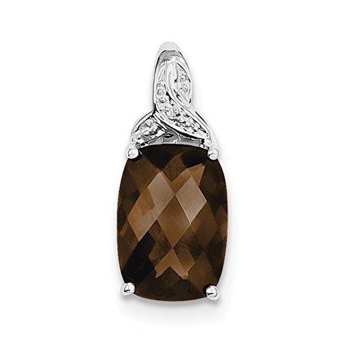 925 Sterling Silver Smoky Quartz Pendant Charm Necklace Gemstone Fine Jewelry For Women Gift Set