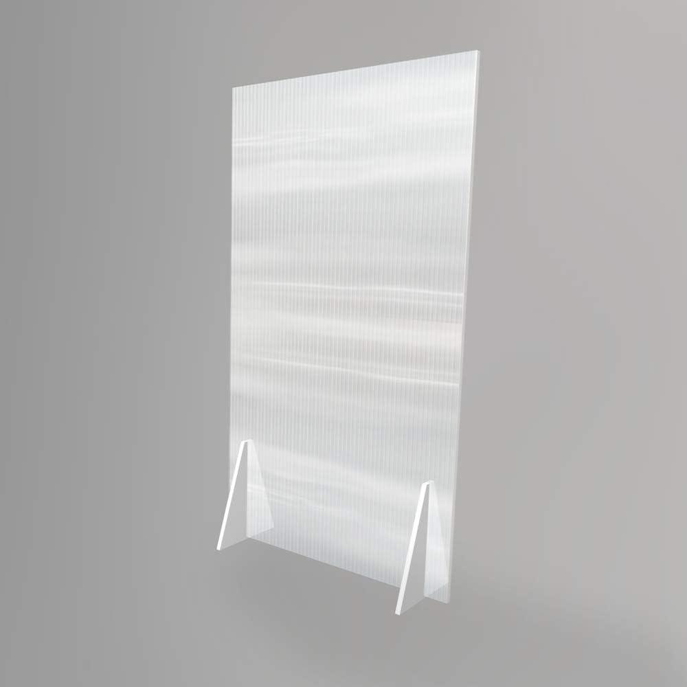 Mampara divisora semi-transparente anti contagio y protecci/ón de 100 x 180 cm