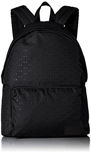 Armani Exchange Men's All Over Micro Print Logo Backpack, Nero, One - Armani Logo Giorgio