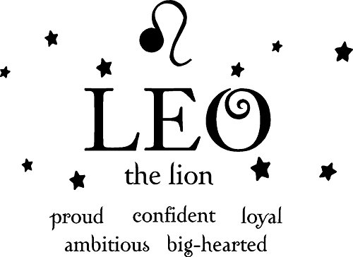 Leo the lion horoscope zodiac vinyl wall art decal home decor sayings quotes