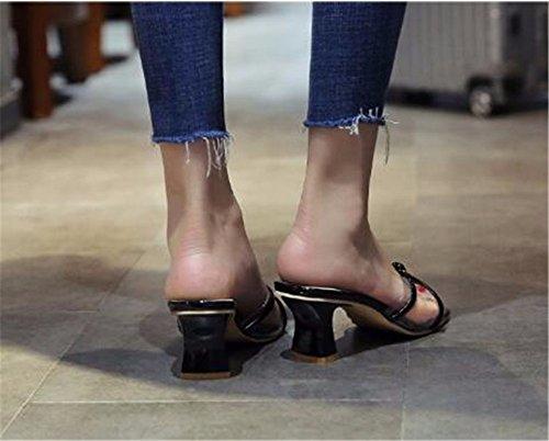 Libre Verano Al Aire Con De Fondo Zapatillas Señora Patin Gaoqiangfeng Plano Black 8fXqY