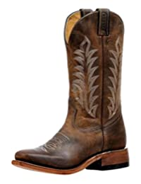 Boulet Western Boots Womens Single Stitch Vintage Damasko Taupe 6211