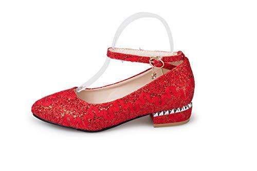 Red EU AN 36 Sandales Femme DGU00591 Compensées Rouge 5 zX8qRA