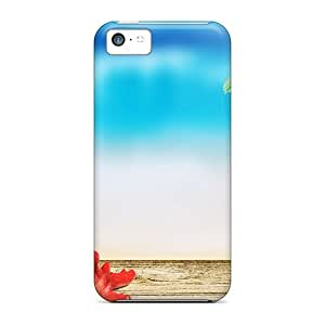 Premium Iphone 5c Case - Protective Skin - High Quality For Red Starfish Closeup