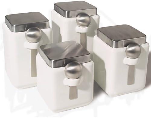 oggi white canister set