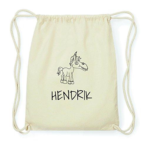 JOllipets HENDRIK Hipster Turnbeutel Tasche Rucksack aus Baumwolle Design: Pferd 29hzgZhD