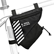 SDADS Bike Triangle Bag with Water Bottle Pocket Cycling Frame Top Tube Bag MTB Bicycle Tool Storage Bag Pouch
