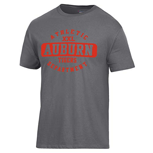 Champion NCAA Auburn Tigers Men's Ringspun Short Sleeve T-Shirt, Granite Heather, Small ()