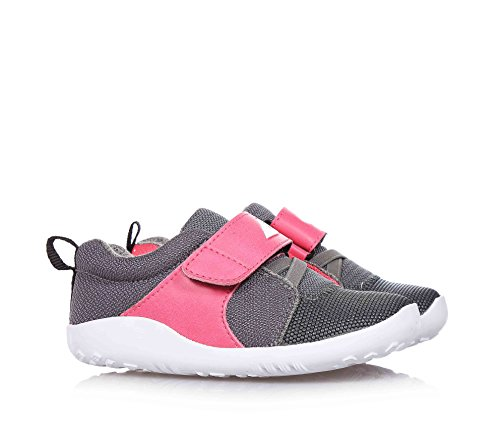 BOBUX - Chaussure rose et grise en tissu, extrêmement flexible, qui permet une croissance sans restriction, réalisée avec teintures et matériaux non-toxiques, fille, filles