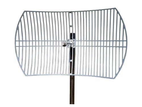 TP-LINK TL-ANT5830B 5GHz 30dBi Antena Parabólica Direccional para Exteriores con Grilla, Conector N Hembra