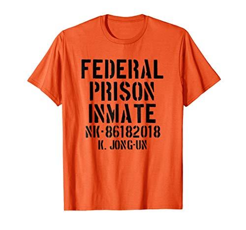 Kim Jong Un Halloween Costume T Shirt Prison Inmate -