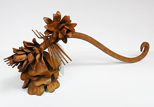 rustic Pine Cone Candle Snuffer metal 8.5'' long pinecone by Paine's