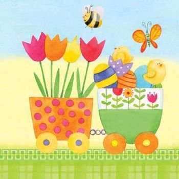 (Easter Bunny Parade Paper Luncheon Napkins 18 Per Pack)