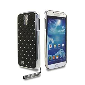 Bloutina Shelfone Stylish Protective Diamante Bling Chrome Harcase Cover For Samsung Galaxy S4 IV I9500 + Includes Stylus...