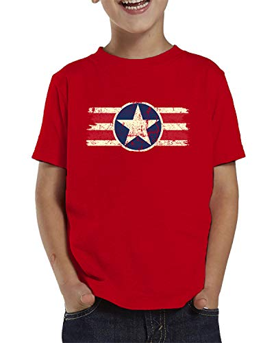 SpiritForged Apparel Vintage USA Emblem Toddler T-Shirt, Red - Emblem Boys