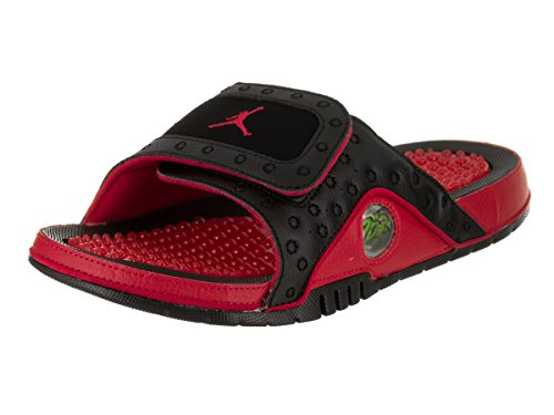 Jordan Nike Men's Hydro XIII Retro Black/True Red Sandal 8 Men US by Jordan