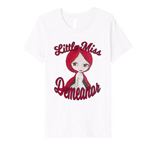 Kids Naughty Little Red Riding Hood Funny Tee Shirt 6 White (Little Miss Riding Hood)