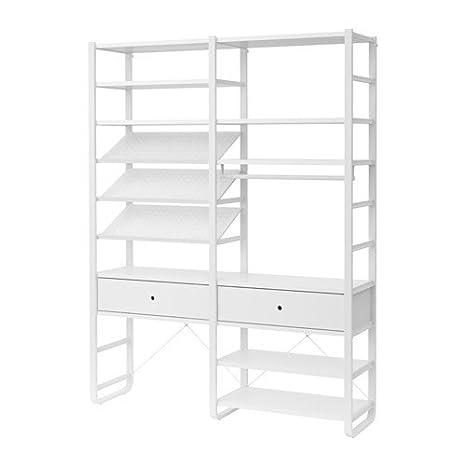 IKEA 2 sección - Estantería, blanco 2386.261120.1820: Amazon ...