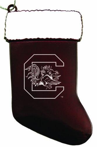 University of South Carolina - Chirstmas Holiday Stocking Ornament - Burgundy