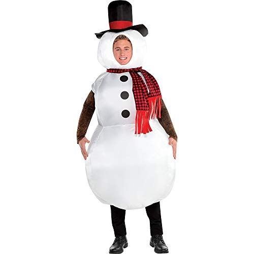 Amscan Inflatable Snowman Costume for Adults, Standard, with Included Accessories -