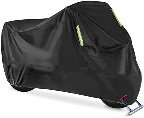 Motorradabdeckung, AngLink 210D Oxford XL Motorrad Abdeckplane Winterfest Motorradgarage Wasserdicht Schutzhülle, 245 * 120 * 105cm