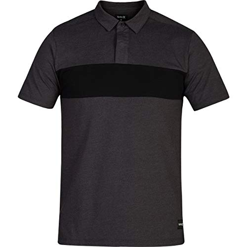 Hurley Men's Dri-FIT Pioneer Polo, Oil Grey Heather, - Polo Cotton Hurley Shirt