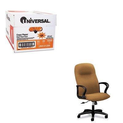 KITHON2071CU26TUNV21200 - Value Kit - The HON Company HON Gamut Executive High-Back Chair, Caramel (HON2071CU26T) and Universal Copy Paper (UNV21200)