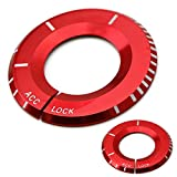 iJDMTOY (1) Red Aluminum Key Hole Surrounding Decoration Trim For Mercedes A B C E S R ML GL CLA CLS GLA GLC GLE Class, etc