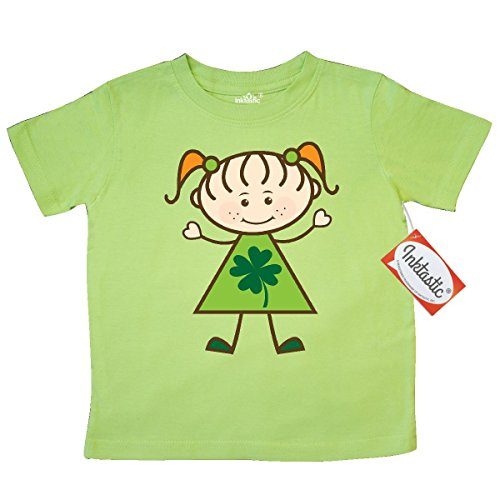 [Inktastic Little Girls' St Patricks Day Irish Girl Toddler T-Shirt 2T Key Lime] (St Patricks Day Shirts For Toddlers)