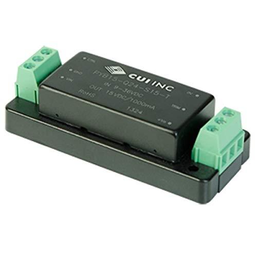 15 W, 4:1 Input Range, Single/Dual Regulated Output, 1,500 Vdc Isolation, Dc-Dc Converter - 5/-5 Vdc, 1.5 A, 15 W, 9~36 Vdc Input Range - PYB15-Q24-D5-T