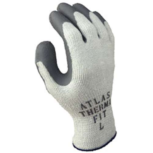 Atlas Gloves - Insulated - Therma Fit - Latex Palm Dipped - 10 GA Double Nap Acrylic Liner (Size: XL) (12 Pairs of Gloves) - CWC-510458